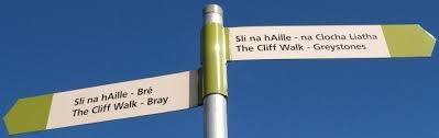 cliff walk sign post
